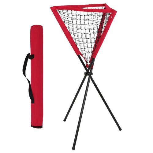 Portable Baseball Softball Batting Pitting Practice Ball Caddy w/Carrying Bag Baseball & Softball