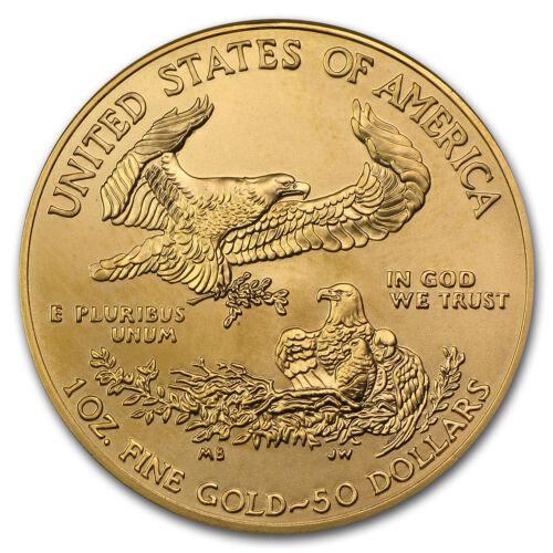 1 oz Gold American Eagle BU (Random Year) - SKU #1