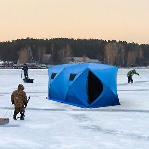 Tente Extérieure Isolée pour Pêche sur Glace pour 5-8 Personnes