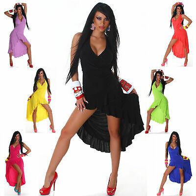 Neckholder Kleid Tanz Party Sommer Sexy Dress Latina  Einheitsgröße 32 34 36 38 - Sexy Tanz