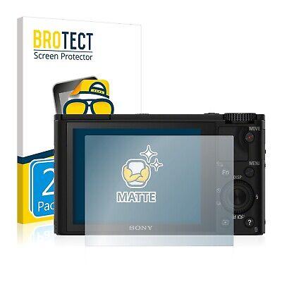 2x Displayschutzfolie Matt Sony Cyber-Shot DSC-RX100 Schutzfolie Folie