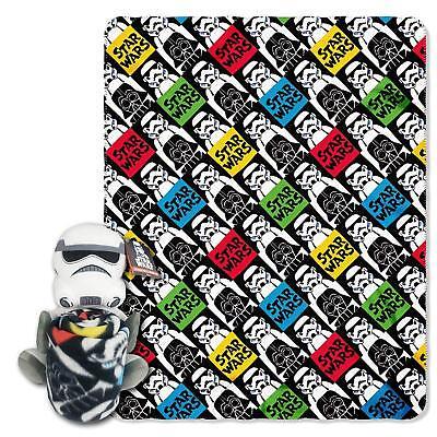 Star Wars Storm Trooper Hugger Pillow Blanket Combo Gift Set Fleece Throw NEW (Star Wars Fleece)