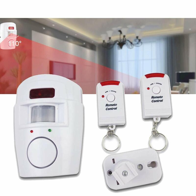 Alarmanlage 2 Fernbedienungen Haus Anlage Bewegungs Melder Sensor Sirene Schutz