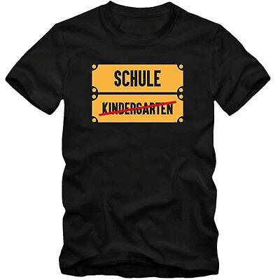 Schule Kurzarm Tee (Kinder unisex T-Shirt    Kindergarten - Schule  Fun Spass Tee  )