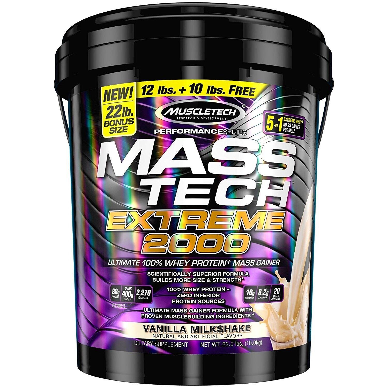 MuscleTech Mass Tech Extreme Vanilla Milkshake, 22 Pounds