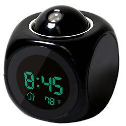 Digital LED Projection Alarm Clock Voice Talking Multi-function Temperature
