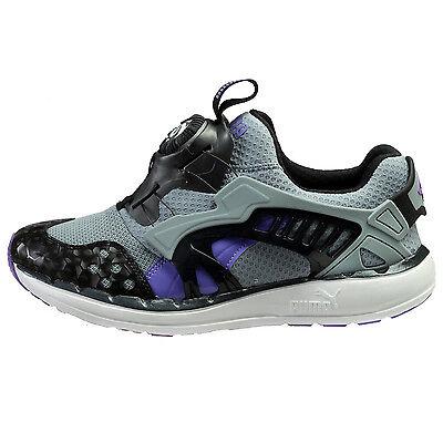 Puma Future Disc Lite O Mens 356859-03 Grey Purple Black Running Shoes Size 10