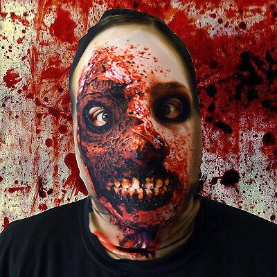 3D Effekt Smiley Zombie Design Gesicht Skin Lycra Gesichtsmaske Halloween L&S