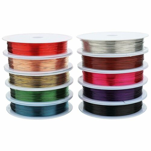 Colored Copper Craft Wire Jewelry Wrapping Floral Wrap 22 24 26 28 30 Gauge