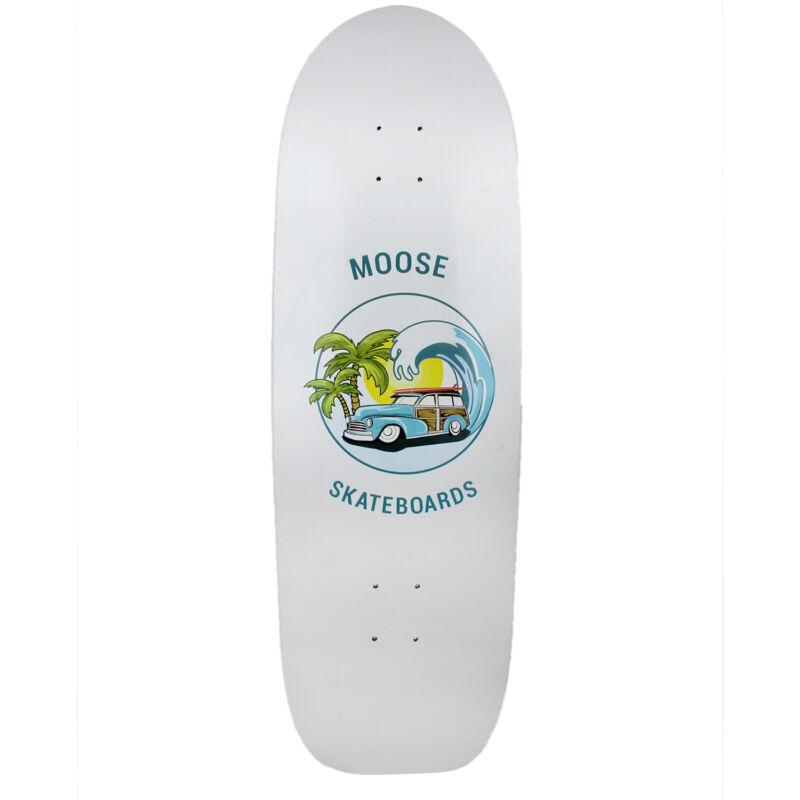 "Old School Skateboard Deck Moose Sunset Cruiser 10"" x 33"" Green/Yellow"