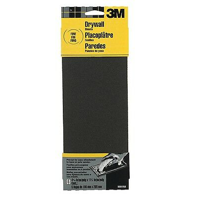 New 3 Pack 3m 9091dc-na Drywall Sanding Sheets Fine-grit 4.1875in By 11in