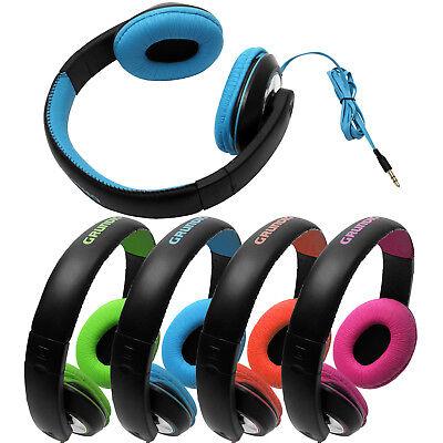 Kopfhörer Cd (Grundig On Ear Stereo Kopfhörer für MP3 CD iPOD Player Bügelkopfhörer)