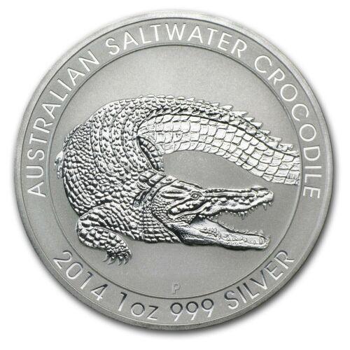 2014 1 oz Silver Australia Saltwater Crocodile *BU* Australian Perth Coin SKU150