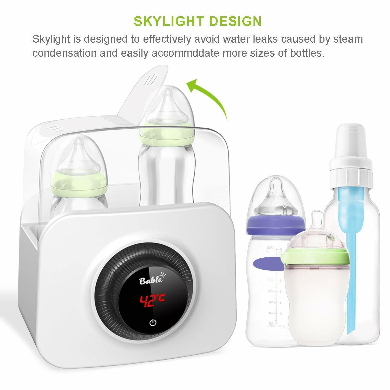 Bottle Warmer and Sterilizer, Bable 6-in-1 Baby Bottle Warme