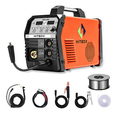 Hitbix Portable Mig 200amp Inverter Mig Arc Lift Tig Gasgasless Welding Machine