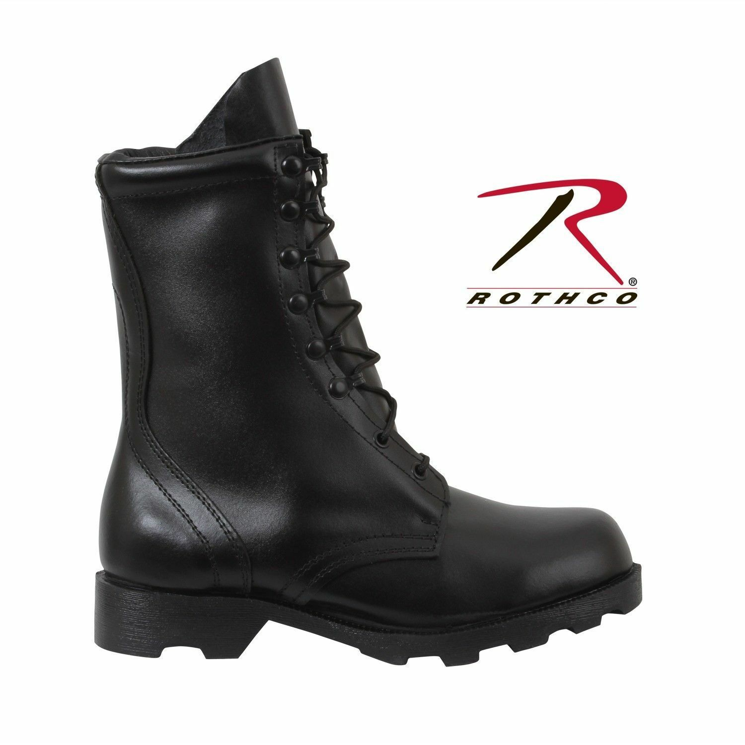 """BOOTS Speedlace Black Leather Army Military COMBAT10"""" Rothco"""