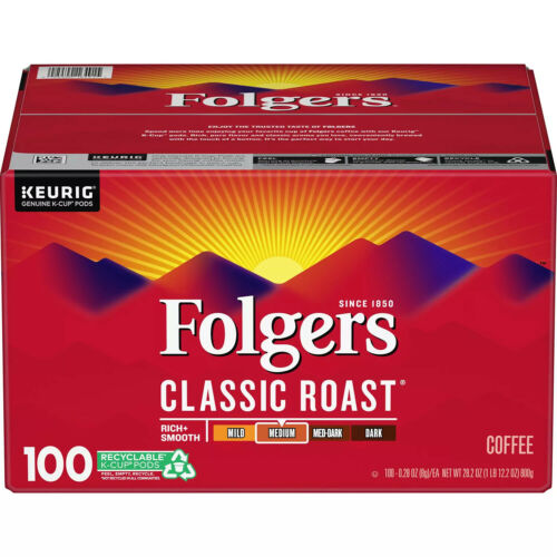 Folgers Classic Roast Coffee K-Cups 100 ct. Mega Deal