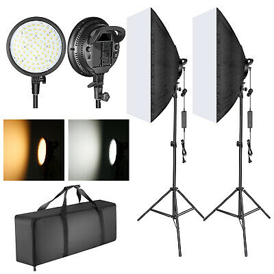 Neewer Dimmable LED Softbox Lighting and 48W 2-color Temperature LED Light Head