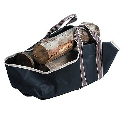 Heavy Duty Canvas Log Tote with closed ends  Fire Wood Carrier