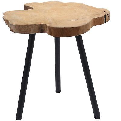 Nachttisch-hocker (Teak-Holz Beistelltisch Couchtisch Nachttisch Hocker Massivholz Telefontisch)