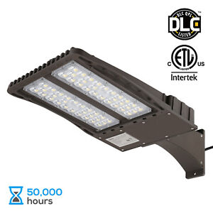 Led parking lot light ebay 150w led parking lot light with photocell arm mount area flood light aloadofball Image collections