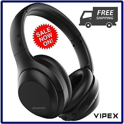 VIPEX Active Noise Cancelling Headphones, Bluetooth 5.0 Wireless Over Ear Headph