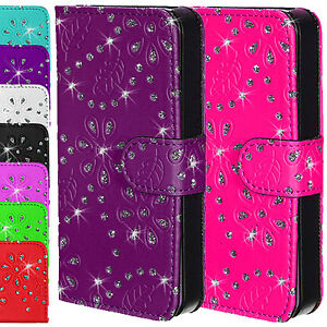 Leather-Sparkle-Bling-Diamond-Wallet-Flip-Magnetic-Case-Cover-Apple-iPhone-4-4S