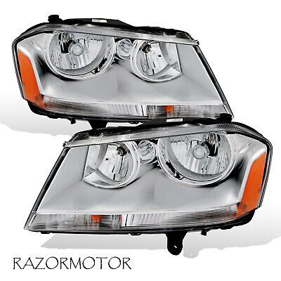 2008-2010 Replacement Headlight Pair For Dodge Avenger Included Bulbs / Sockets