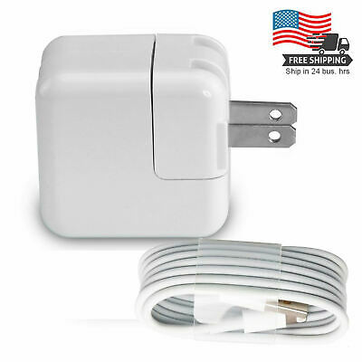12W USB Power Adapter Wall Charger Cable for iPad 2 3 4 Air Pro
