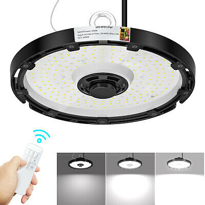 Commercial Led Warehouse Light Bulb Ufo 240w Wireless Dimmable High Bay Lighting
