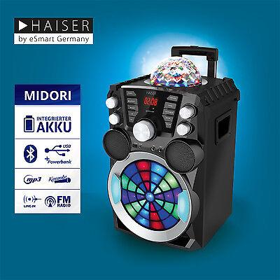 HAISER MIDORI Party Lautsprecher Karaoke Anlage Funkmikro MP3 USB Bluetooth online kaufen