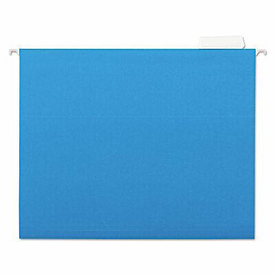 Universal Hanging File Folders 15 Tab 11 Point Stock Letter Blue 25box 14116
