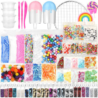 Slime Supplies Kit Foam Beads Charms Styrofoam Balls Tools For DIY Slime - Slime Kit