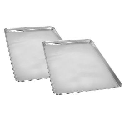 Half Size Aluminum Sheet Pan 18 x 13 Commercial Baking Bread Cookies - 2 Pack](Half Sheet Pan Size)