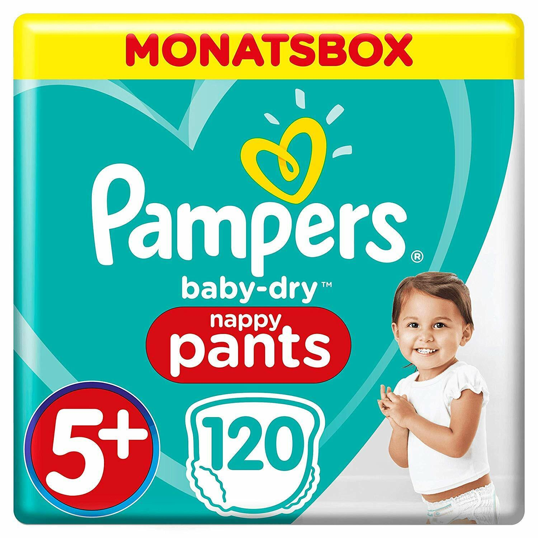 Pampers Baby-Dry Pants Größe 5+, 120 Windeln, Monatsbox, 1er Pack (1 x 120 Stück