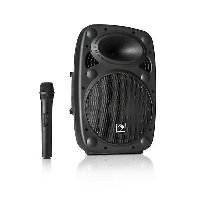 (B-WARE) Mobile DJ PA Anlage 400W Mikrofon Karaoke Lautsprecher USB MP3 Player gebraucht kaufen  Berlin