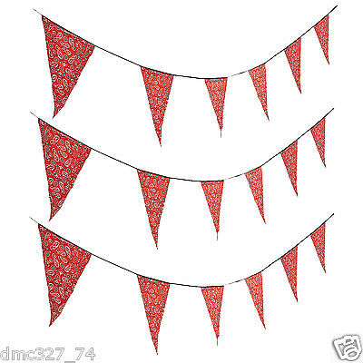 WESTERN Cowboy Farm Party Decoration BANDANA Pennant 100 FT FLAG BANNER](Red Bandana Decorations)