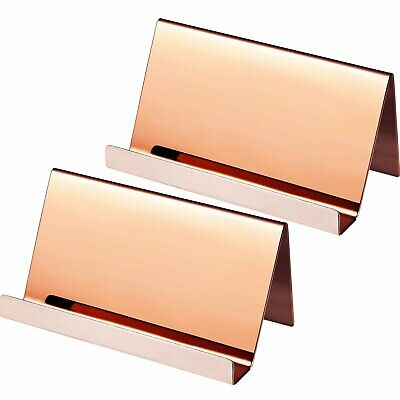 Business Card Holder Rose Gold 3-pack 9 X 5 X 4.5 Cm Stainless Steel...