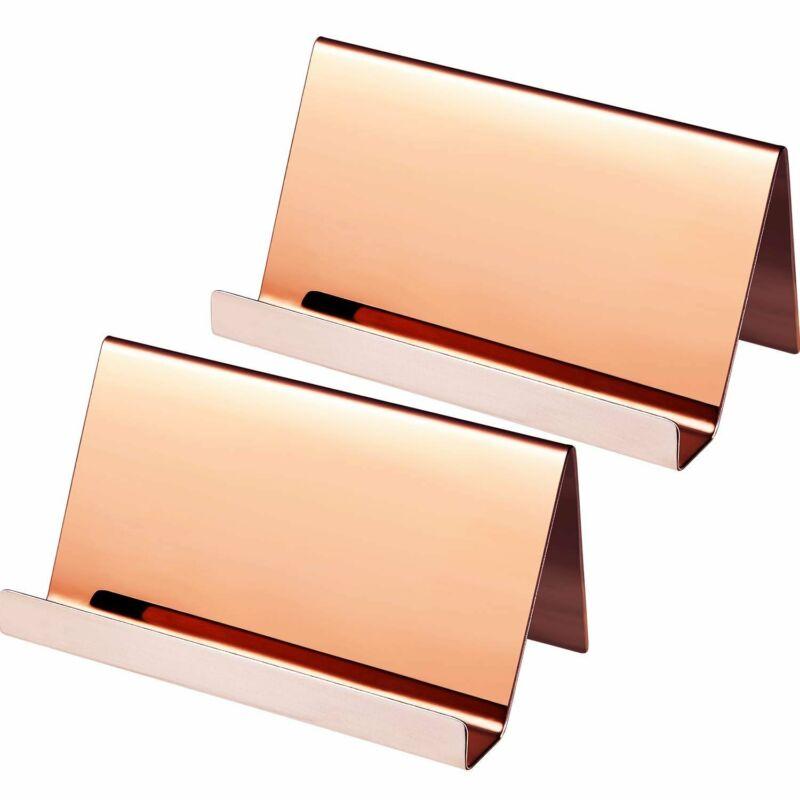 Business Card Holder Rose Gold (3-Pack) Stainless Steel Name card Holder