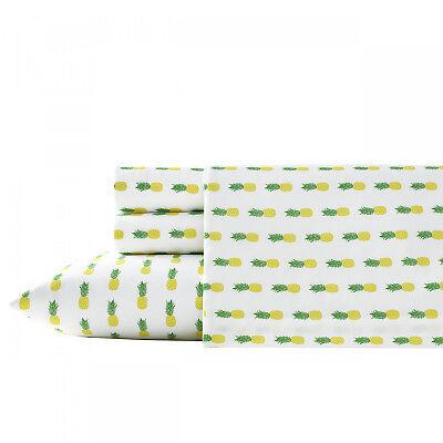 Poppy & Fritz Pineapples 4-Pc Sheet Set, T200 Percale Cotton