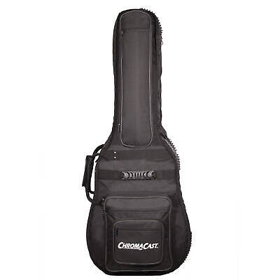Double Guitar Bag Padded Black Case Electric Gig Pro Straps Soft Backpack New