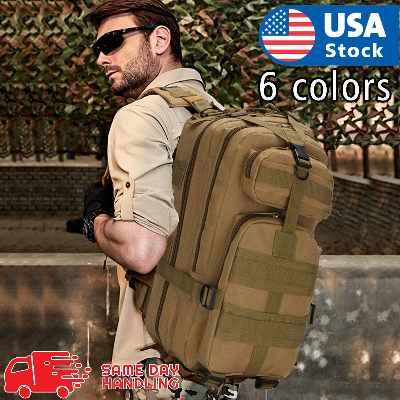 Outdoor Shoulder Military Tactical Backpack Travel Camping Hiking Bag 30 L Camping & Hiking
