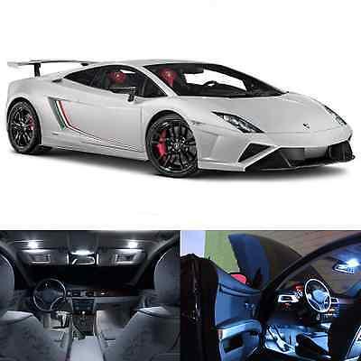 LED White Lights Interior Package Kit For Lamborghini Gallardo (8 pcs)