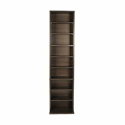 Multimedia Storage CD Organizer DVD Tower Rack Cabinet Movie Shelf Stand Media