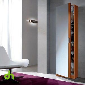 Mueble zapatero con puerta cristal espejo armario for Mueble zapatero con puerta de espejo