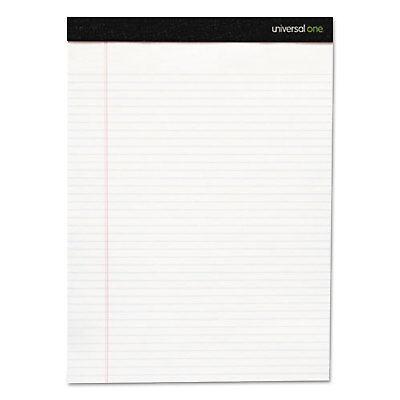Universal Fashion Writing Pad Narrow 5 X 8 White 50 Sheetspad 6 Padspack