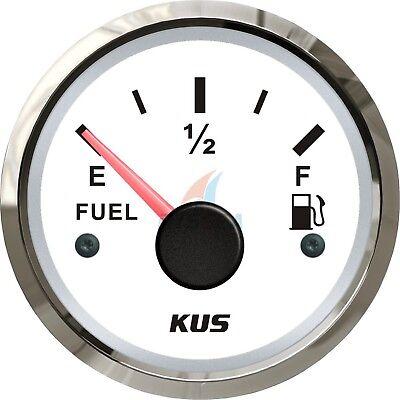 KUS Fuel Tank Level Gauge Boat Marine Car Gas Level Indicator 52mm 0-190ohms