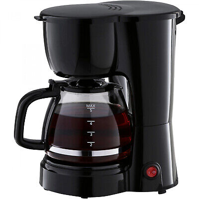 5 Cup Black Coffee Maker With Removable Filter Basket by Mainstays Digital Filter Coffee Maker