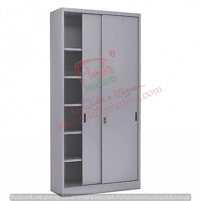 Armadio in Metallo Ufficio / Archiviazione Ante Scorrevoli Dim. 120x45x250h cm