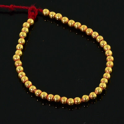 """2mm 18k Solid Gold Plain Round Spacers Beads 3.3"""" Strand (43)"""